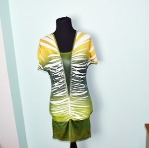 Daytrip Yellow and Green Bodycon Top